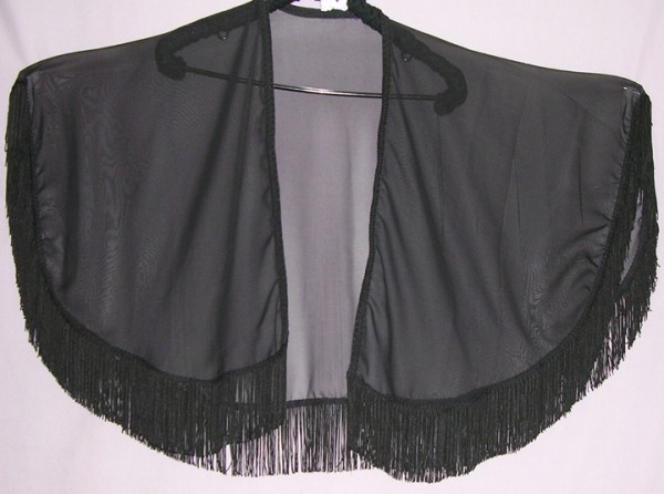 Dreams Cape - Ready-Made in Black Chiffon